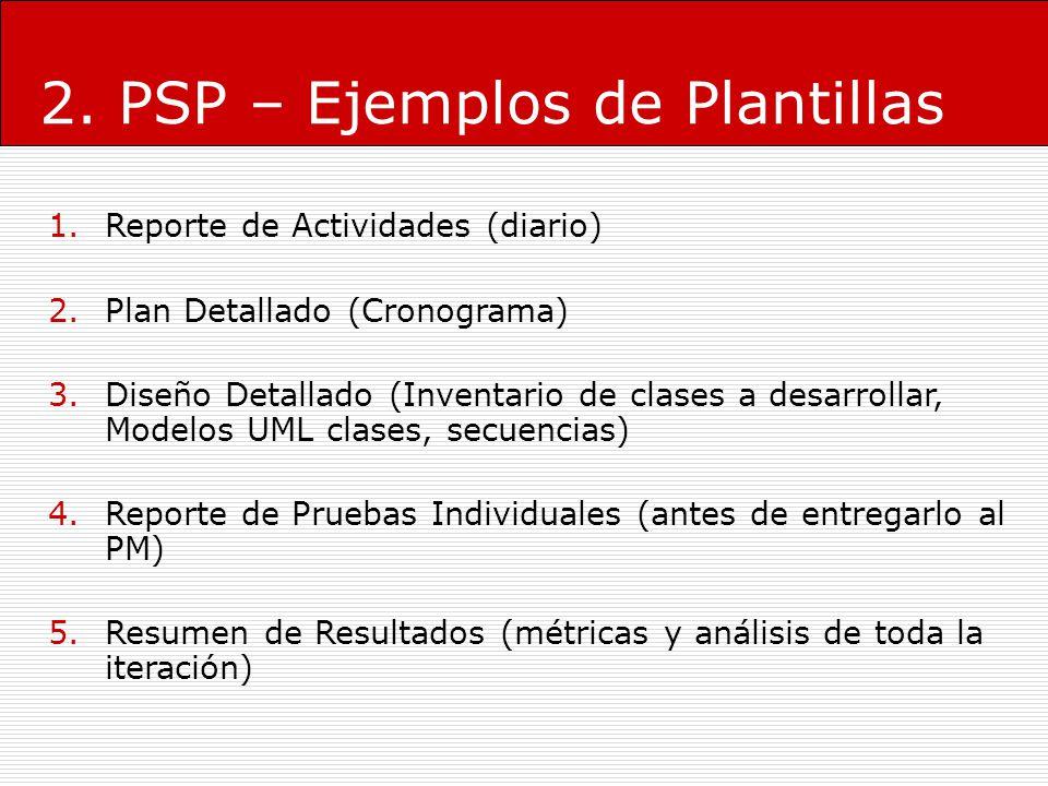 2. PSP – Ejemplos de Plantillas