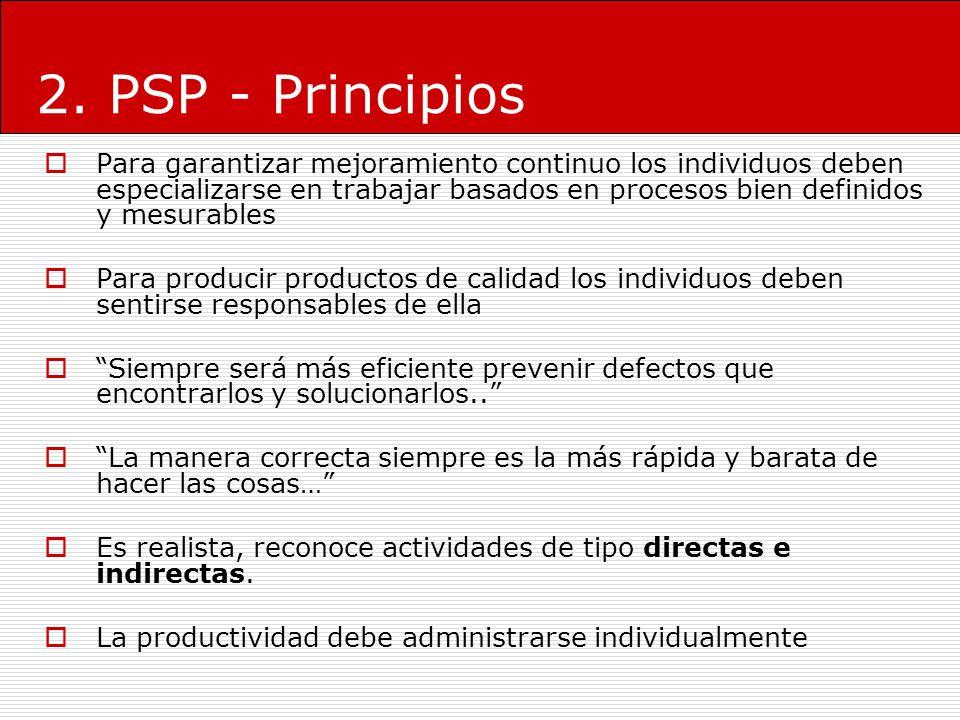 2. PSP - Principios