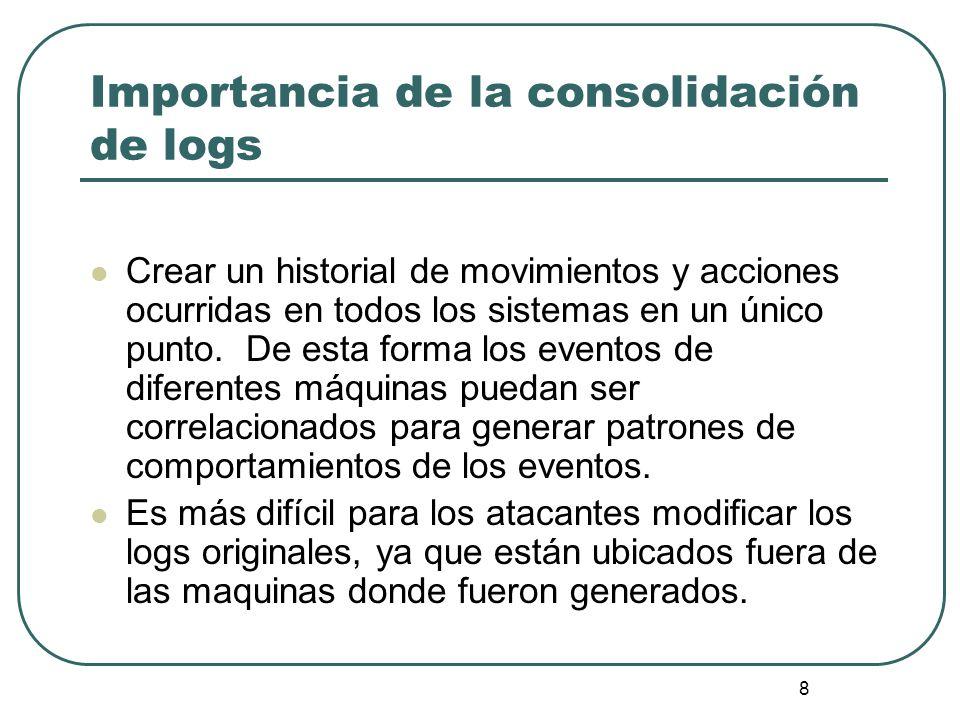 Importancia de la consolidación de logs