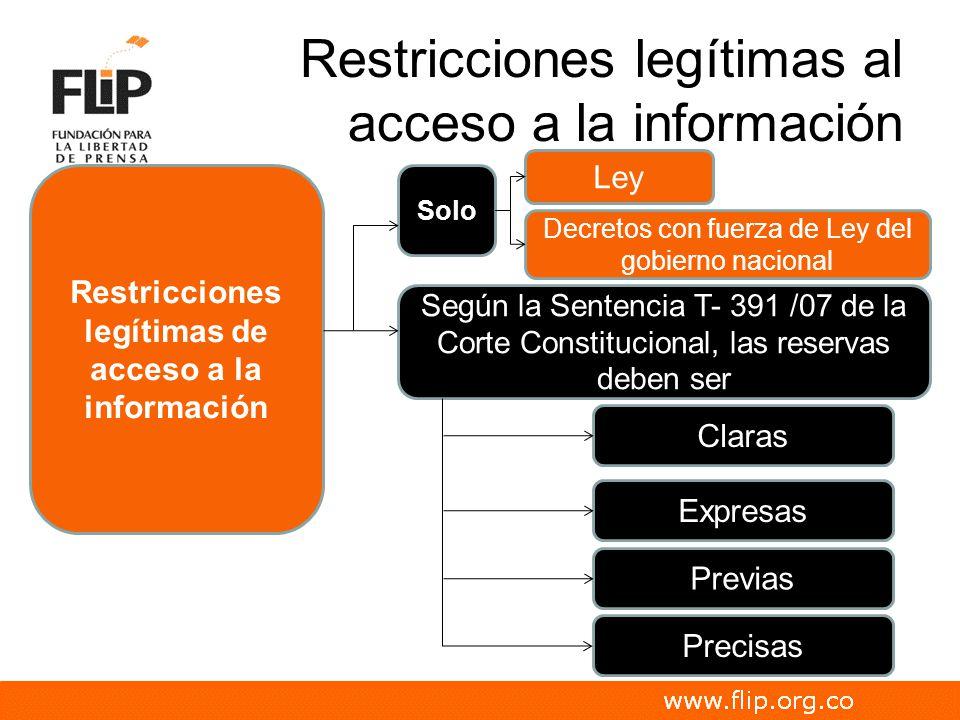 Restricciones legítimas al acceso a la información