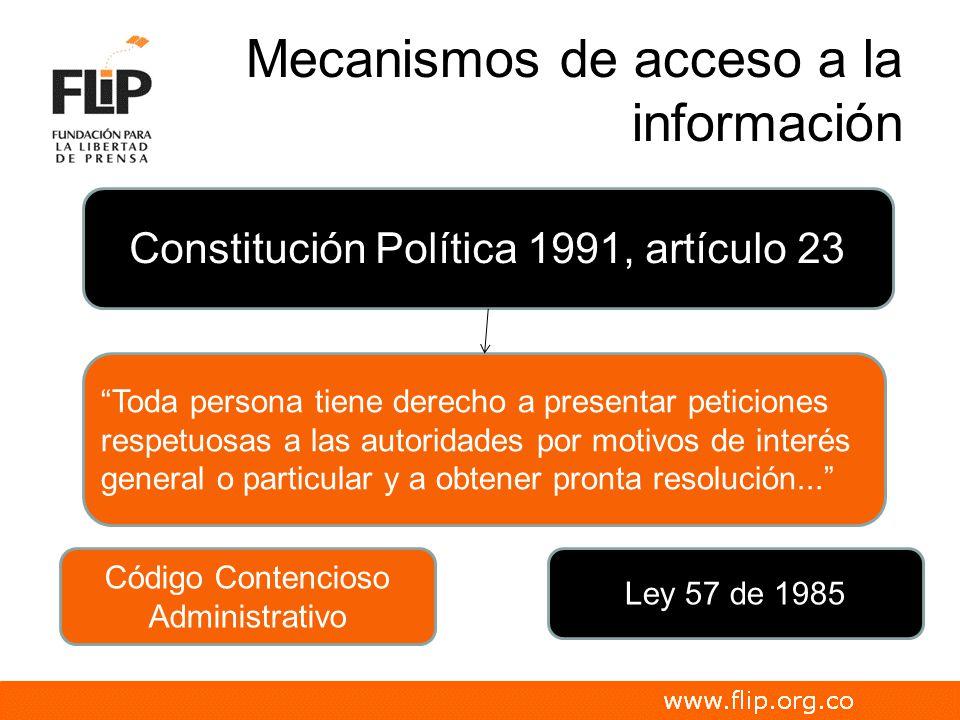 Mecanismos de acceso a la información