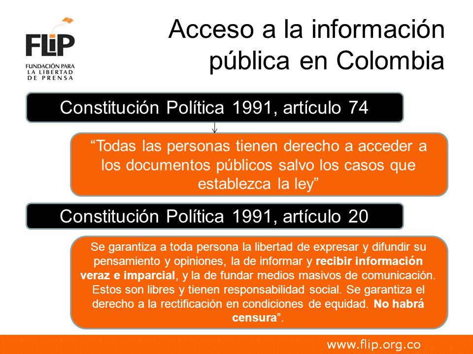 Acceso a la información pública en Colombia