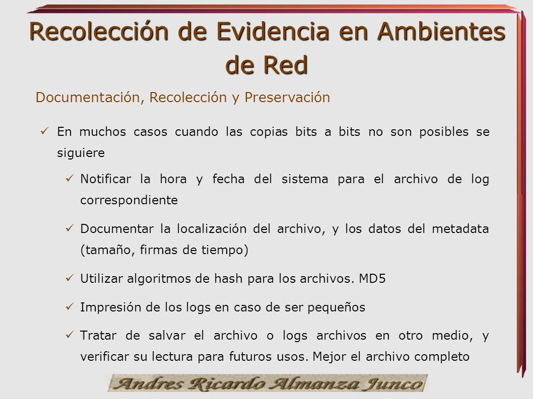 Documentación, Recolección y Preservación