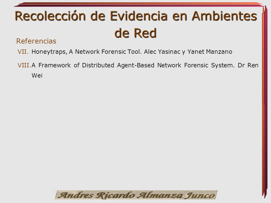 Referencias Honeytraps, A Network Forensic Tool. Alec Yasinac y Yanet Manzano.