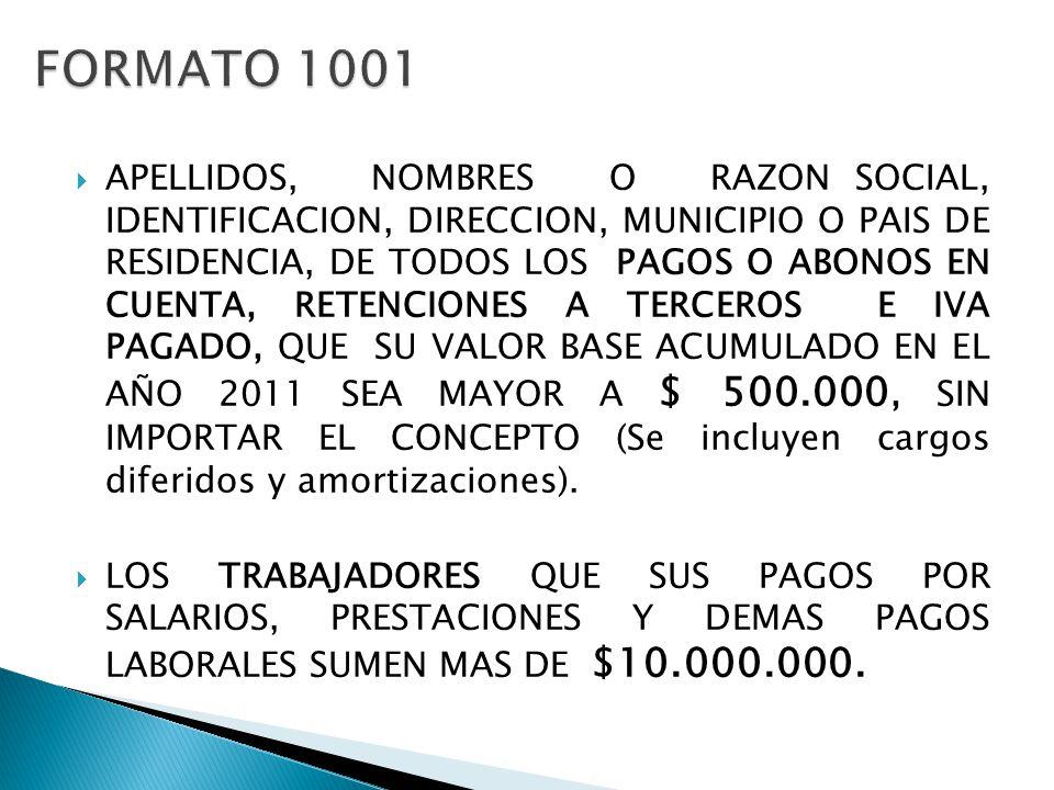 FORMATO 1001