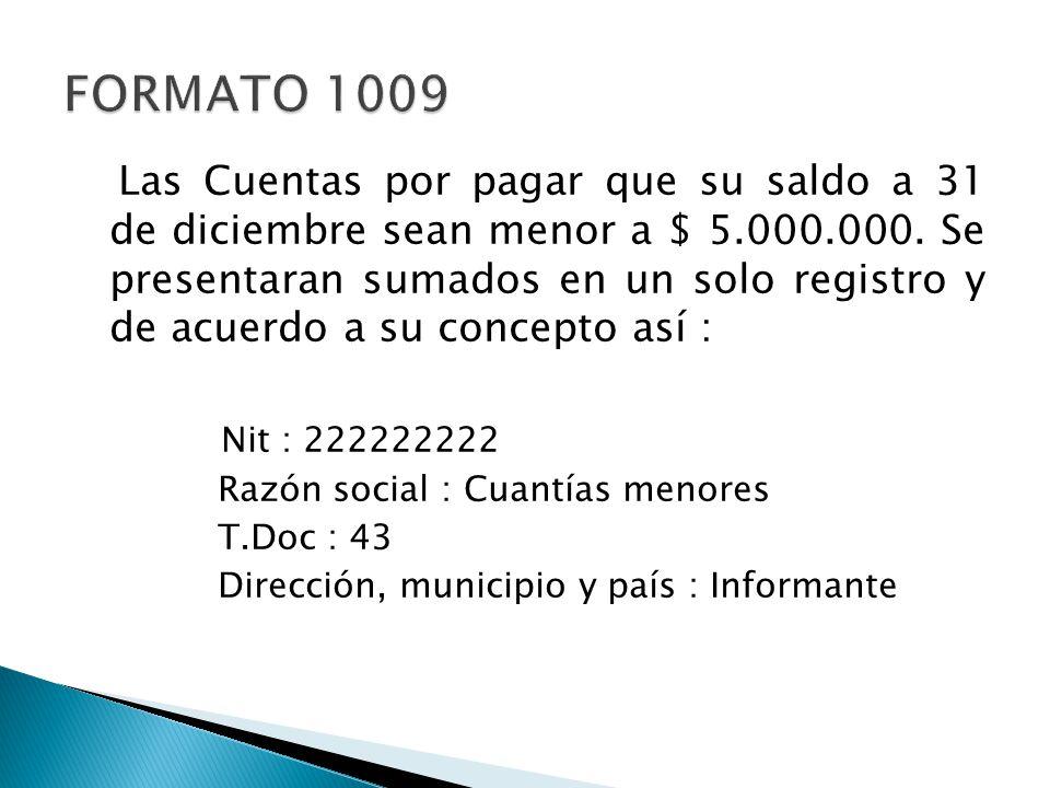 FORMATO 1009