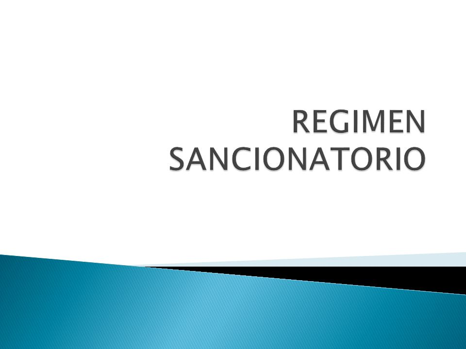 REGIMEN SANCIONATORIO