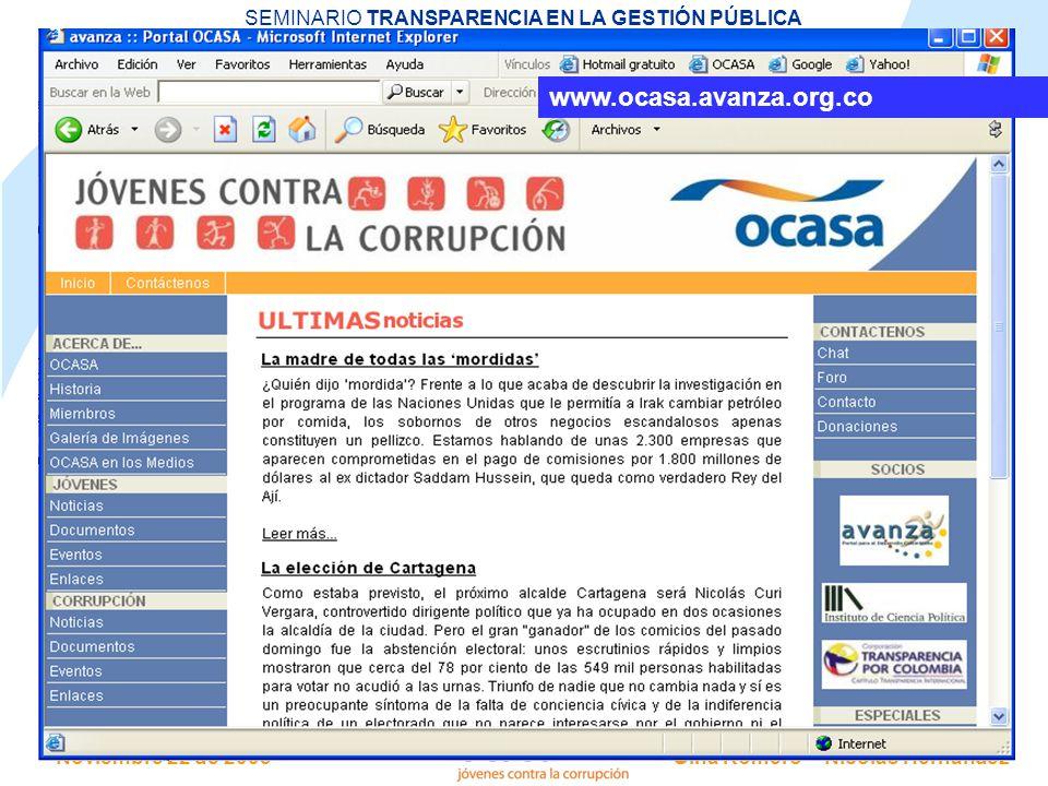 www.ocasa.avanza.org.co
