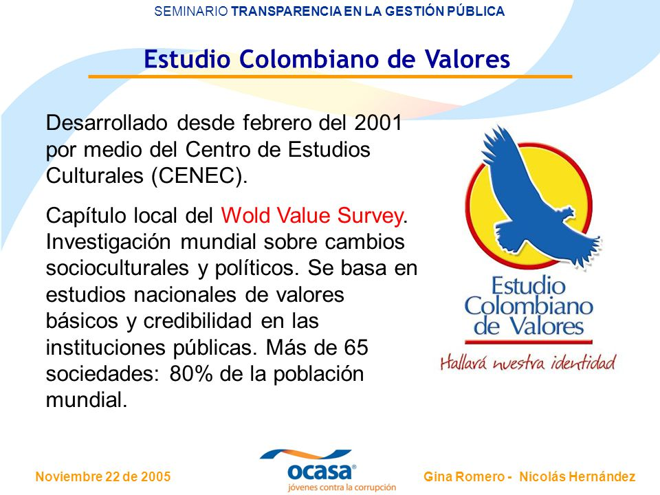 Estudio Colombiano de Valores