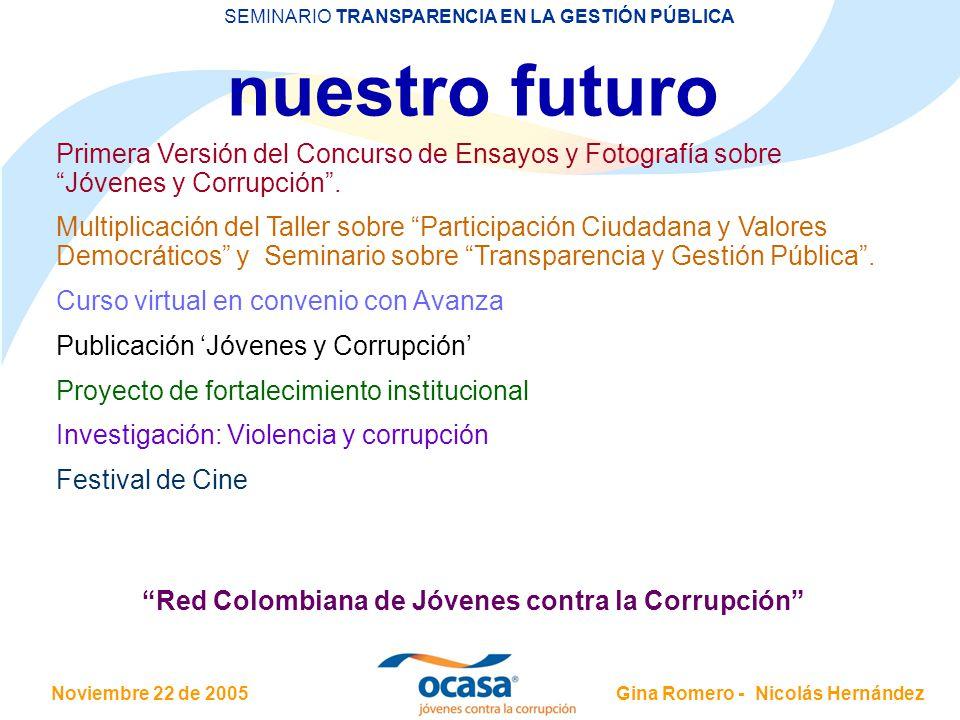 Red Colombiana de Jóvenes contra la Corrupción