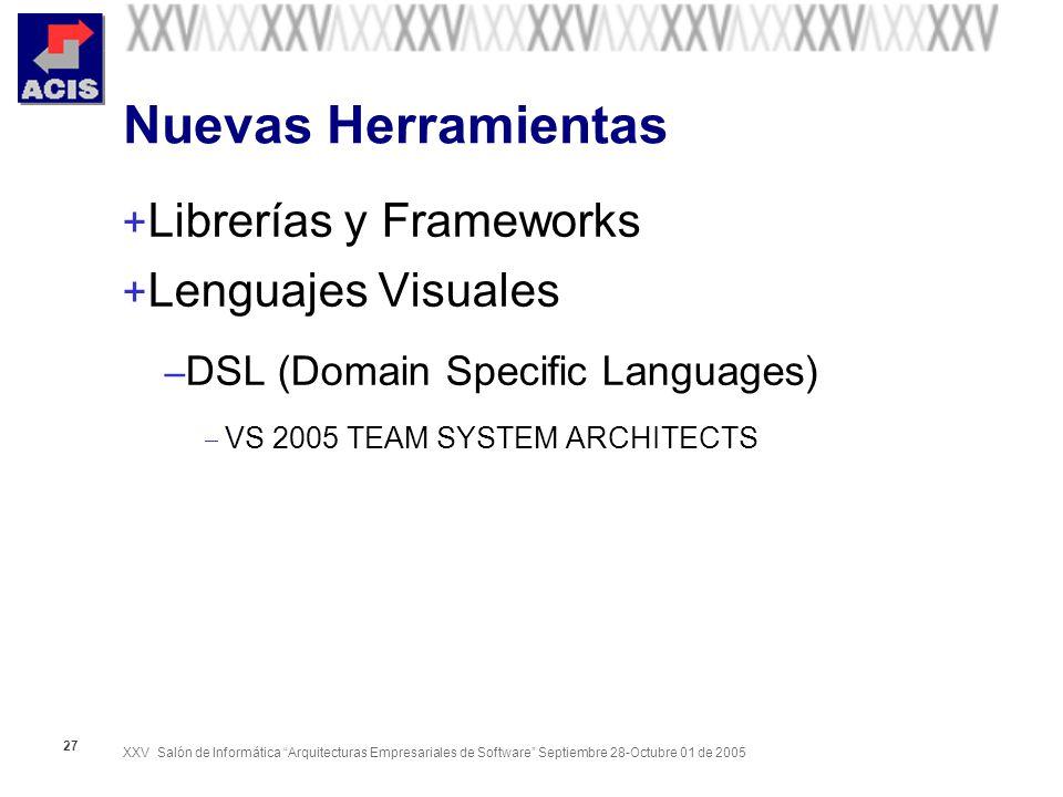 Nuevas Herramientas Librerías y Frameworks Lenguajes Visuales
