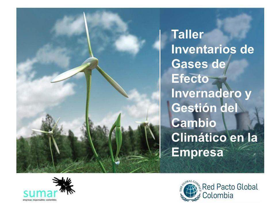 Taller Inventarios de Gases de Efecto Invernadero y Gestión del Cambio Climático en la Empresa