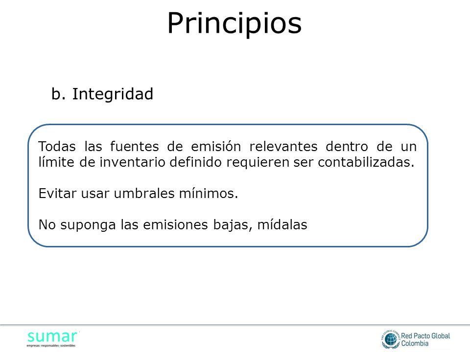 Principios b. Integridad