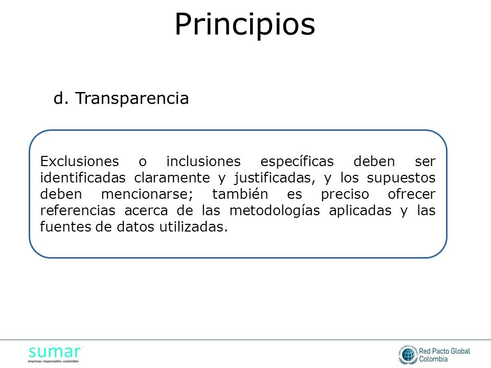 Principios d. Transparencia