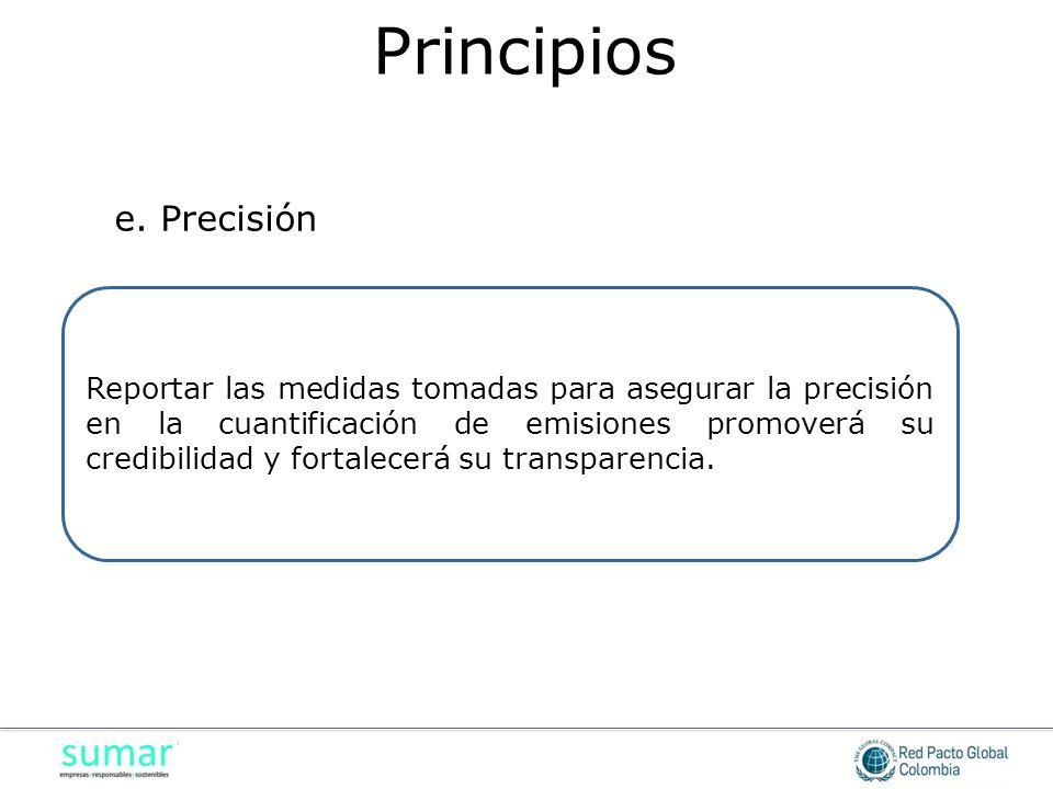 Principios e. Precisión
