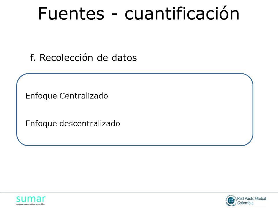 Fuentes - cuantificación