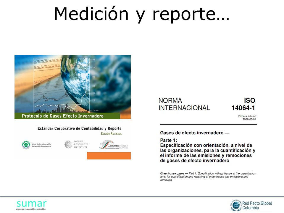 Medición y reporte…