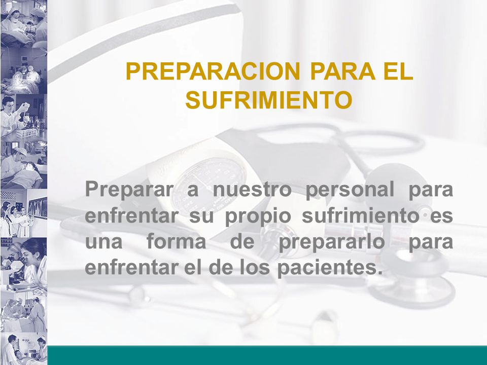 PREPARACION PARA EL SUFRIMIENTO