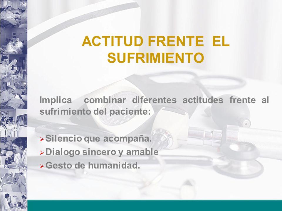 ACTITUD FRENTE EL SUFRIMIENTO