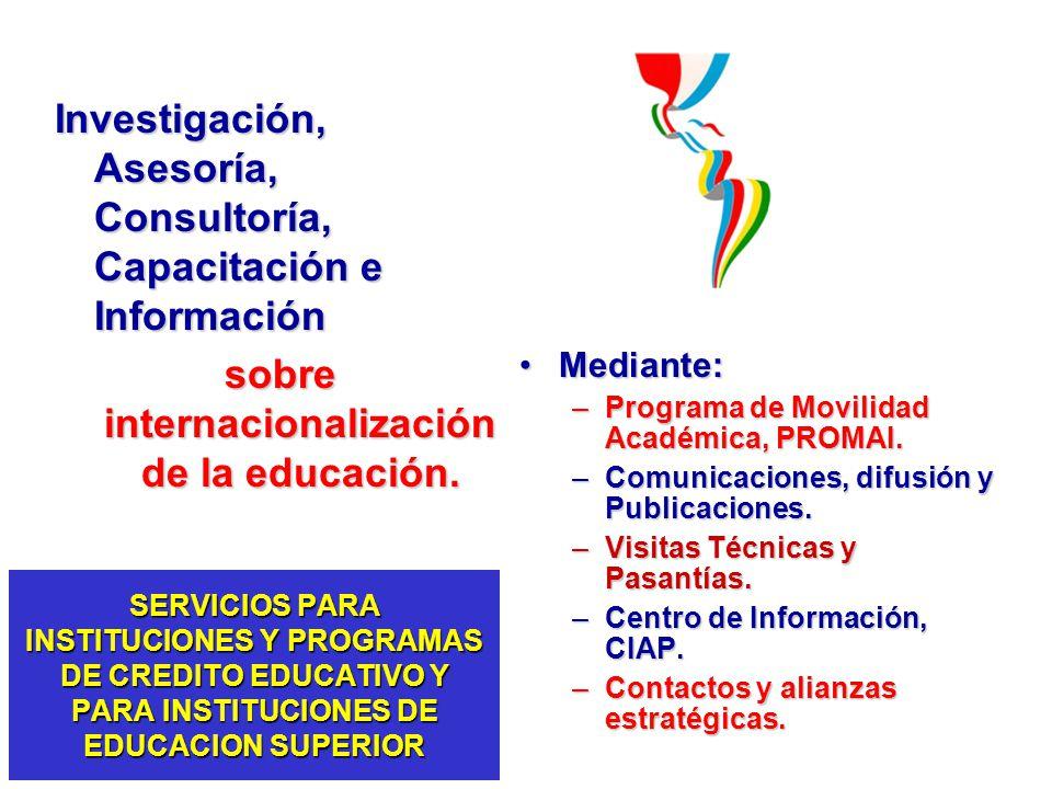 sobre internacionalización de la educación.