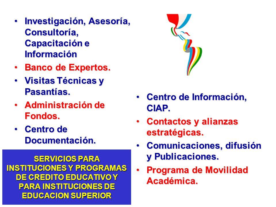 Investigación, Asesoría, Consultoría, Capacitación e Información