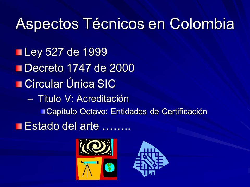 Aspectos Técnicos en Colombia