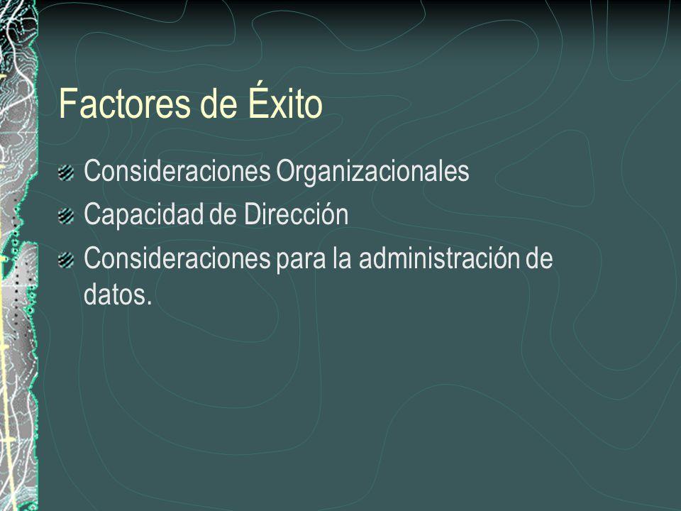 Factores de Éxito Consideraciones Organizacionales