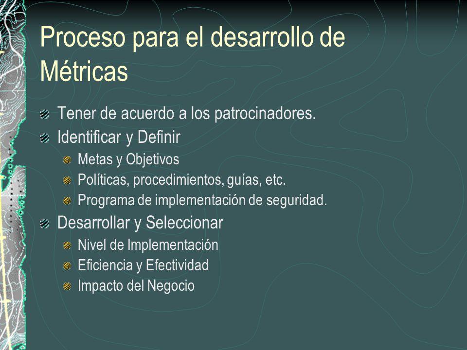 Proceso para el desarrollo de Métricas
