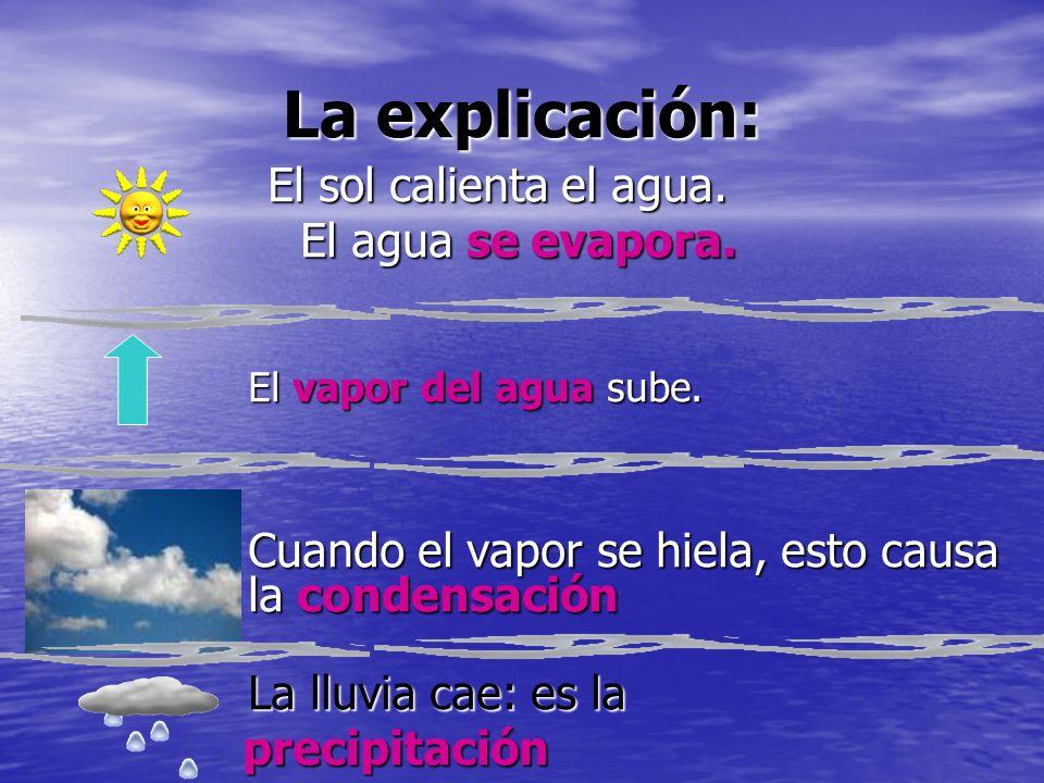La explicación: El agua se evapora.