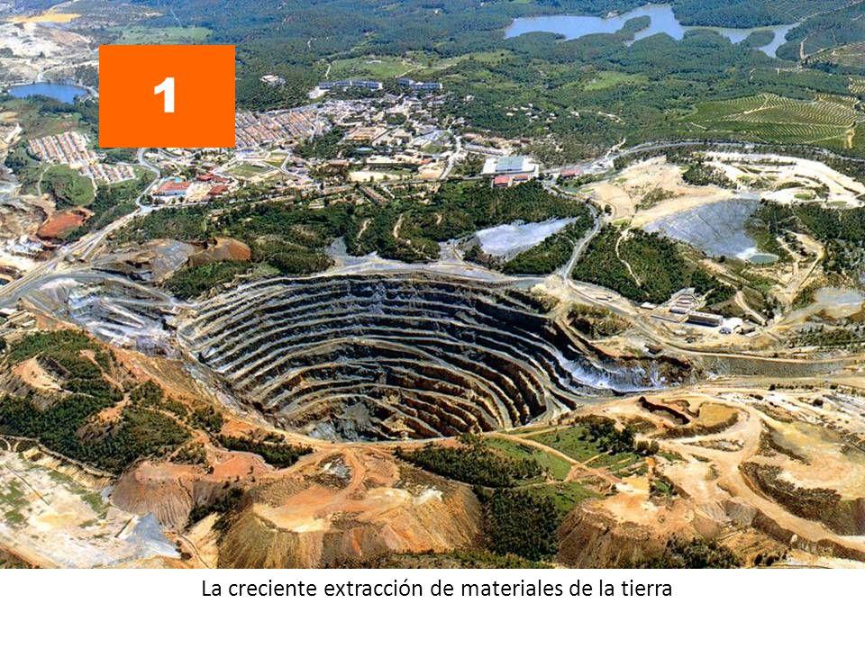 La creciente extracción de materiales de la tierra