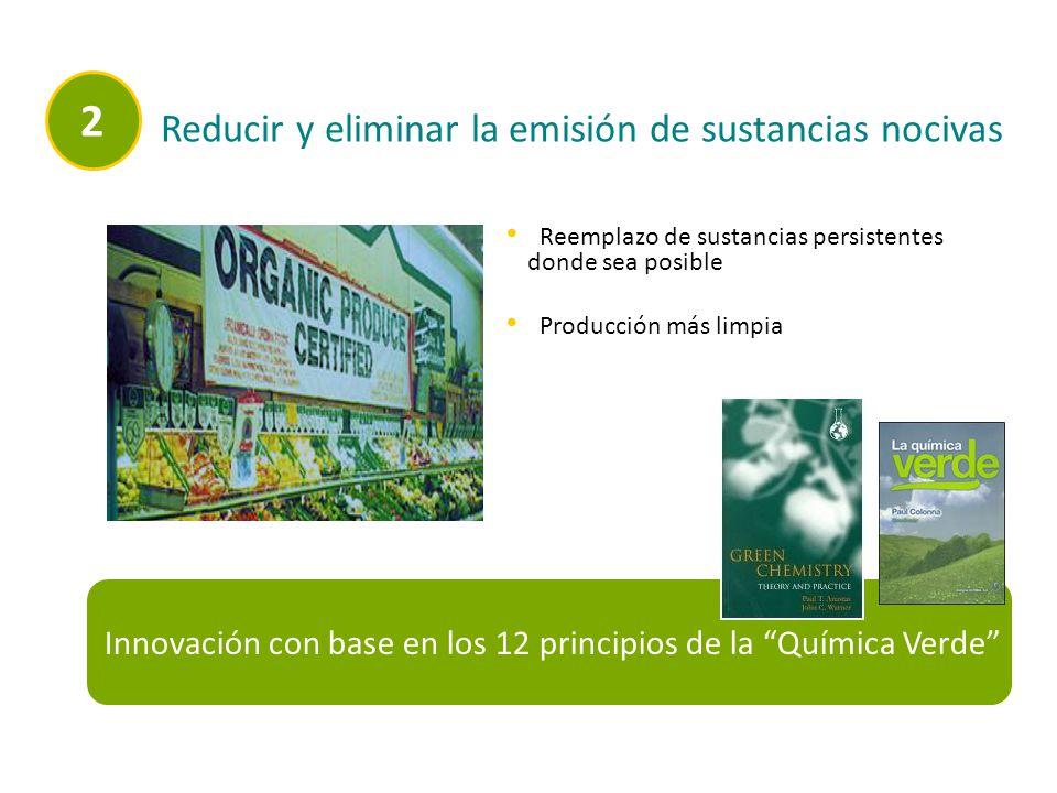 2 Reducir y eliminar la emisión de sustancias nocivas
