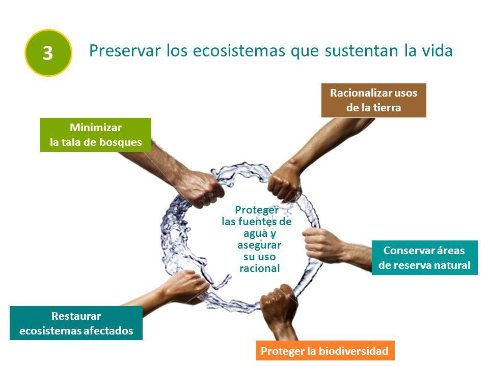 3 Preservar los ecosistemas que sustentan la vida