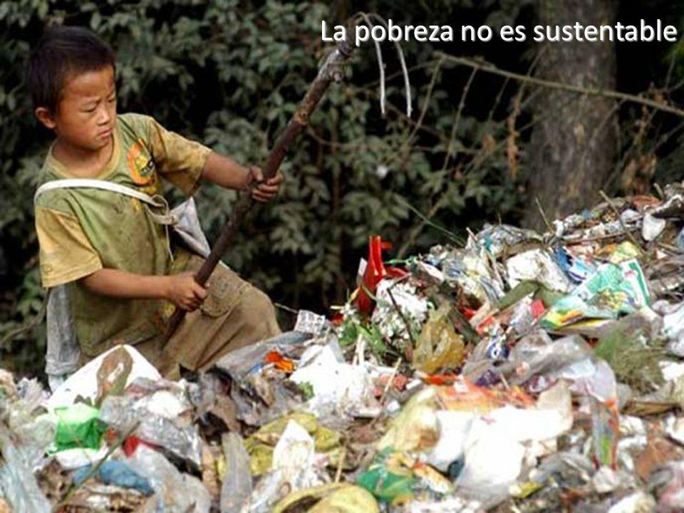 El desarrollo sustentable La pobreza no es sustentable