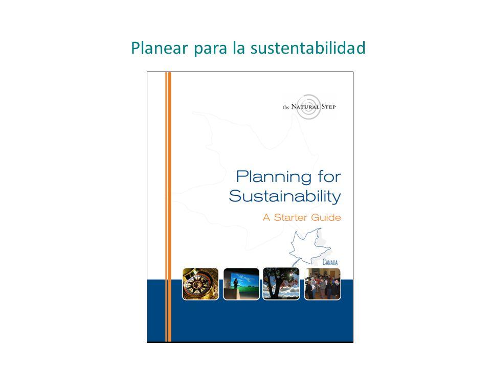 Planear para la sustentabilidad