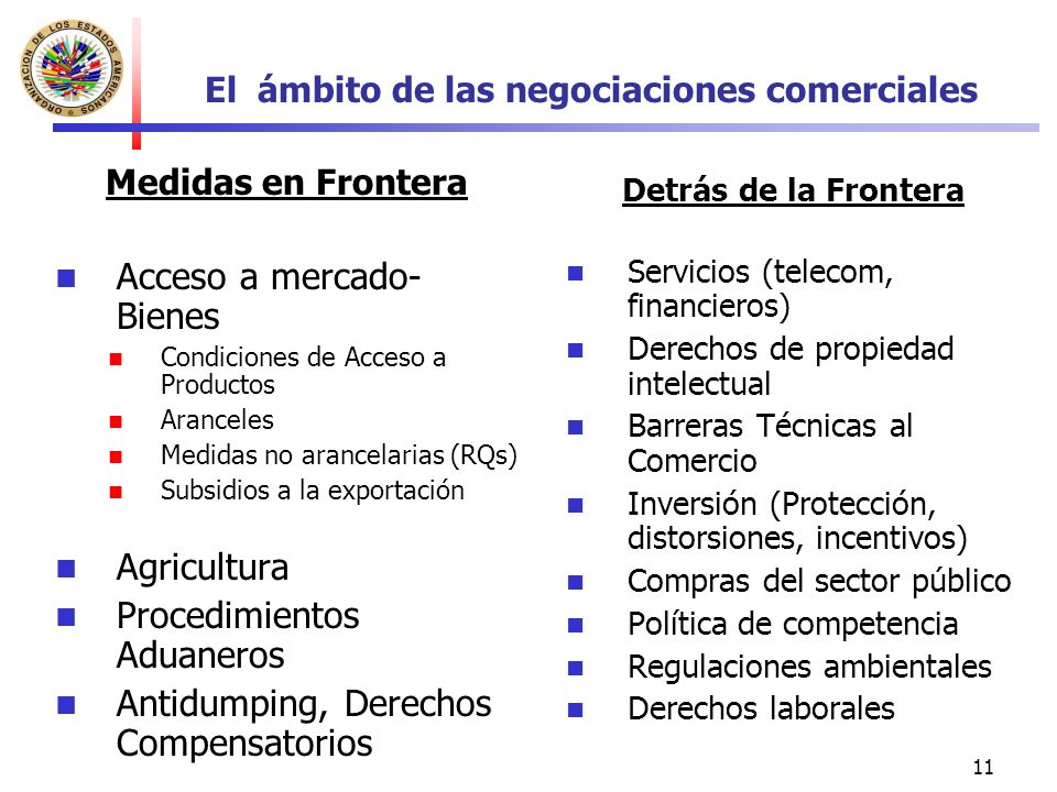 El ámbito de las negociaciones comerciales