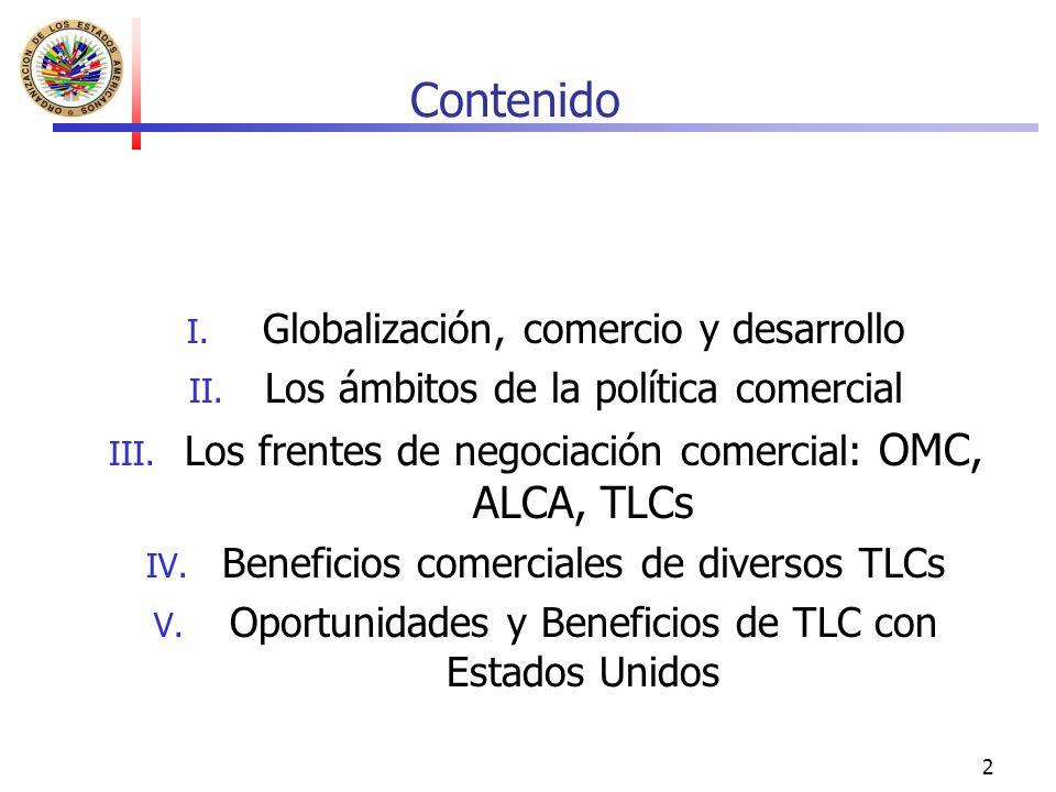 Contenido Globalización, comercio y desarrollo
