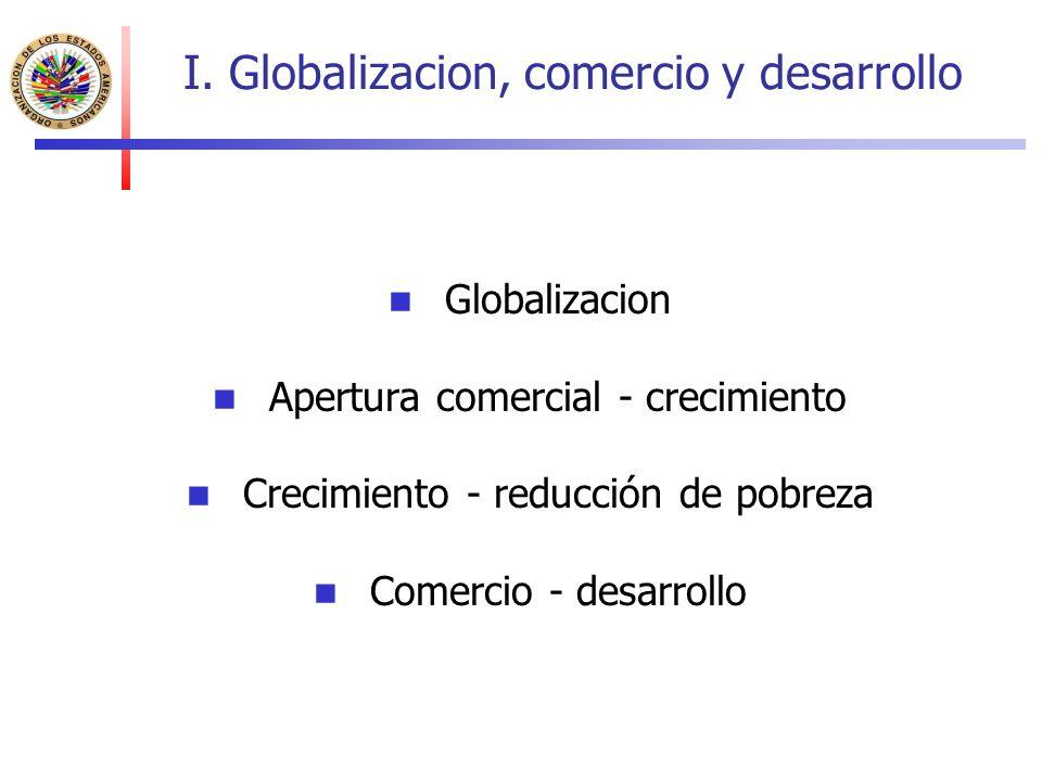 I. Globalizacion, comercio y desarrollo