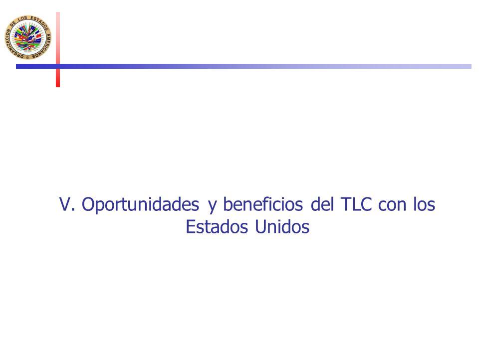 V. Oportunidades y beneficios del TLC con los Estados Unidos