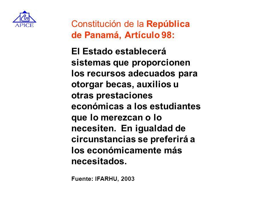 Constitución de la República de Panamá, Artículo 98: