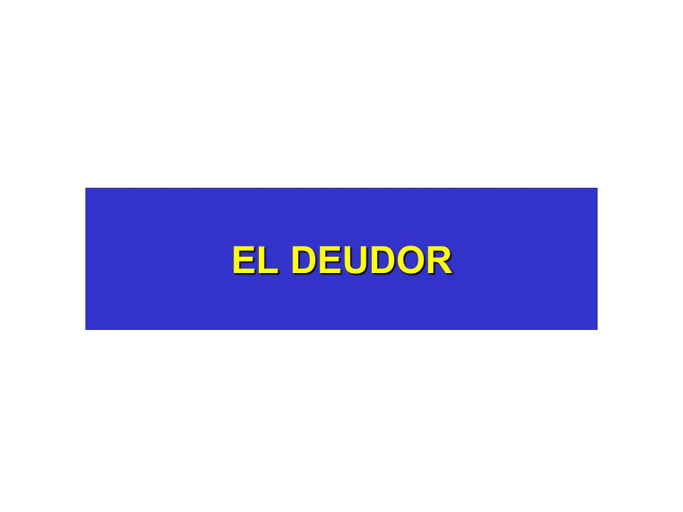 EL DEUDOR