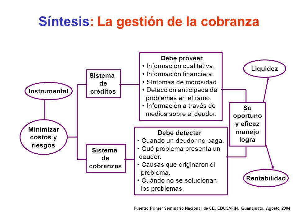 Síntesis: La gestión de la cobranza