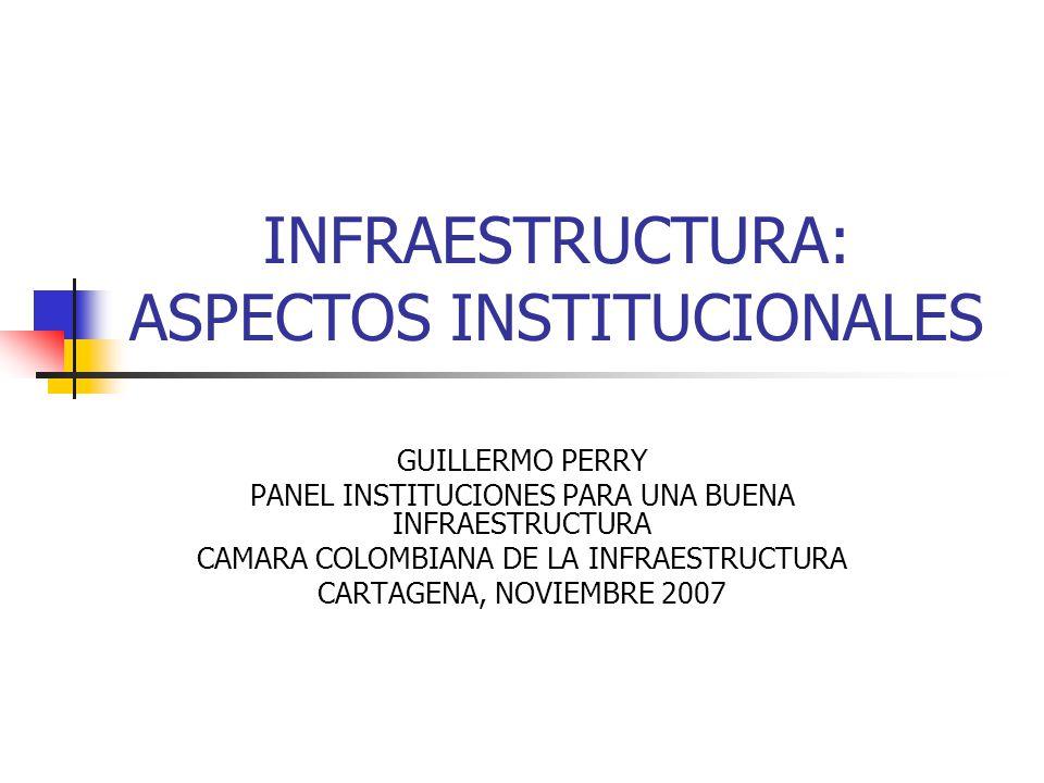 INFRAESTRUCTURA: ASPECTOS INSTITUCIONALES