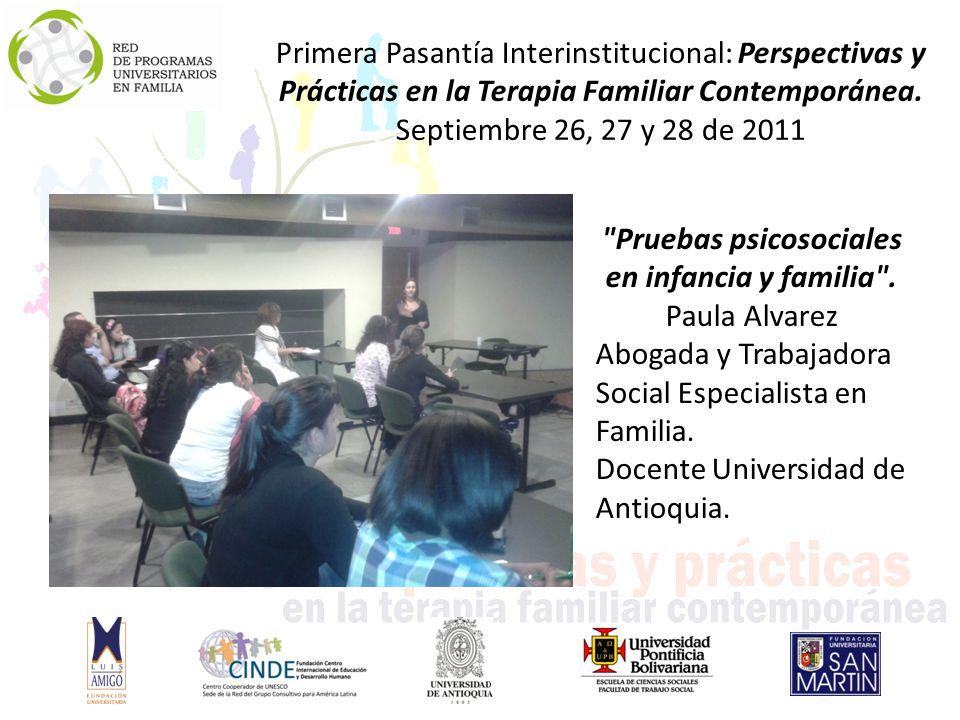 Pruebas psicosociales en infancia y familia . Paula Alvarez
