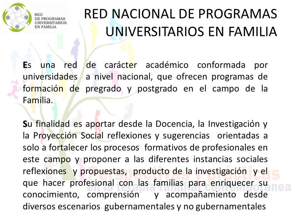 RED NACIONAL DE PROGRAMAS UNIVERSITARIOS EN FAMILIA