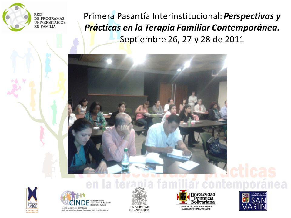 Primera Pasantía Interinstitucional: Perspectivas y Prácticas en la Terapia Familiar Contemporánea.