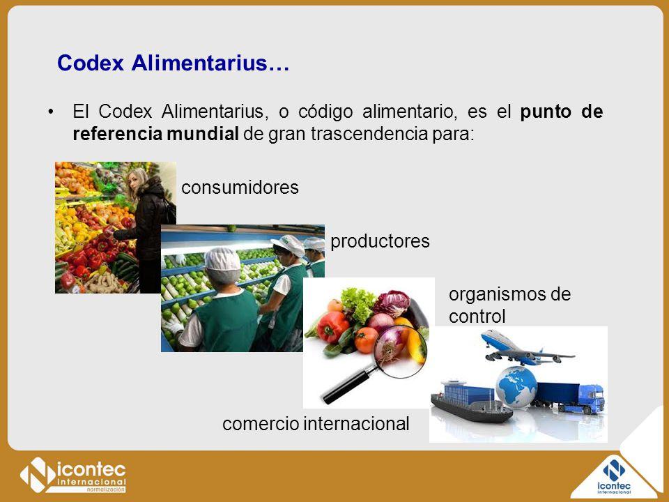 Codex Alimentarius… El Codex Alimentarius, o código alimentario, es el punto de referencia mundial de gran trascendencia para: