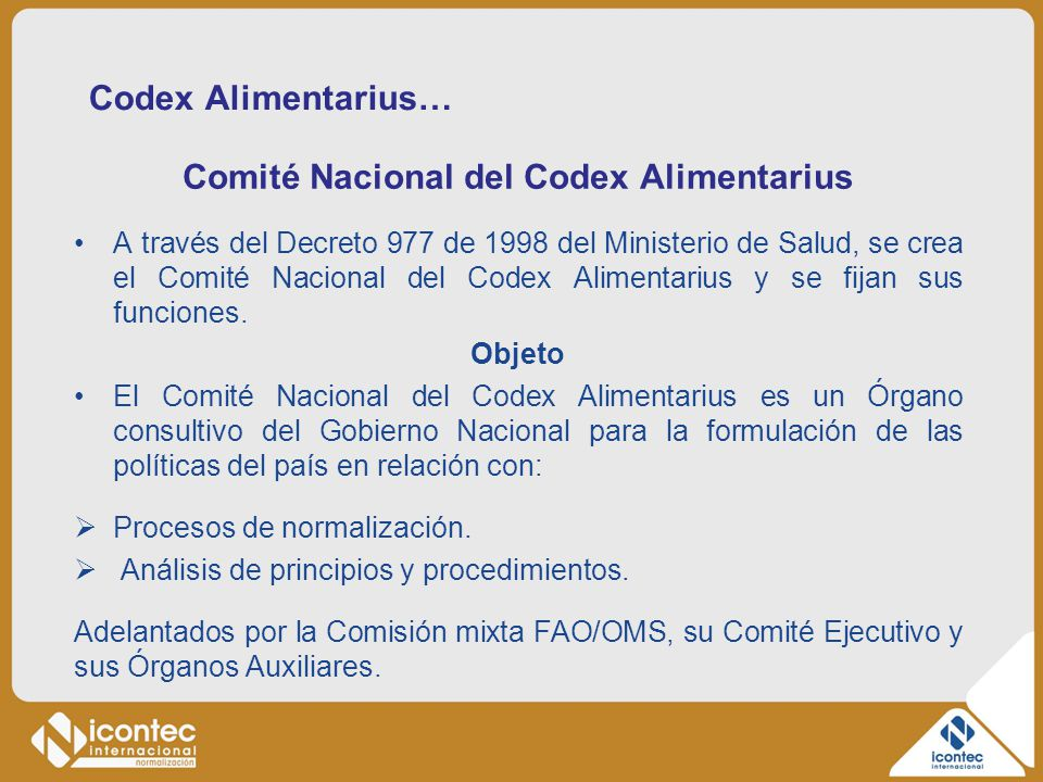 Comité Nacional del Codex Alimentarius
