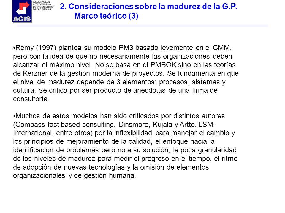 2. Consideraciones sobre la madurez de la G.P. Marco teórico (3)