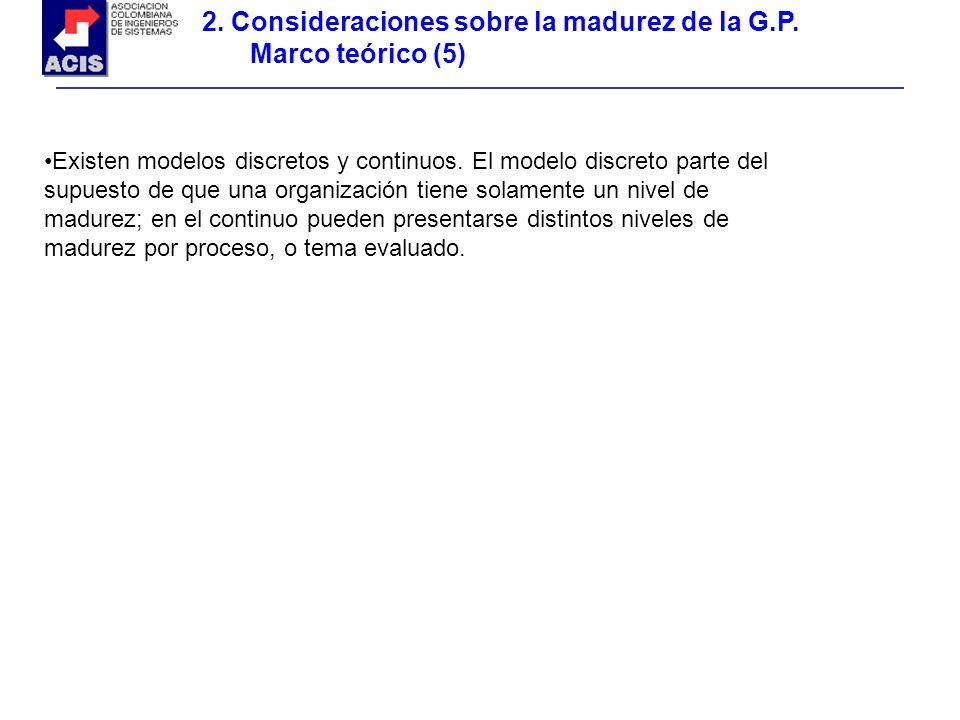 2. Consideraciones sobre la madurez de la G.P. Marco teórico (5)