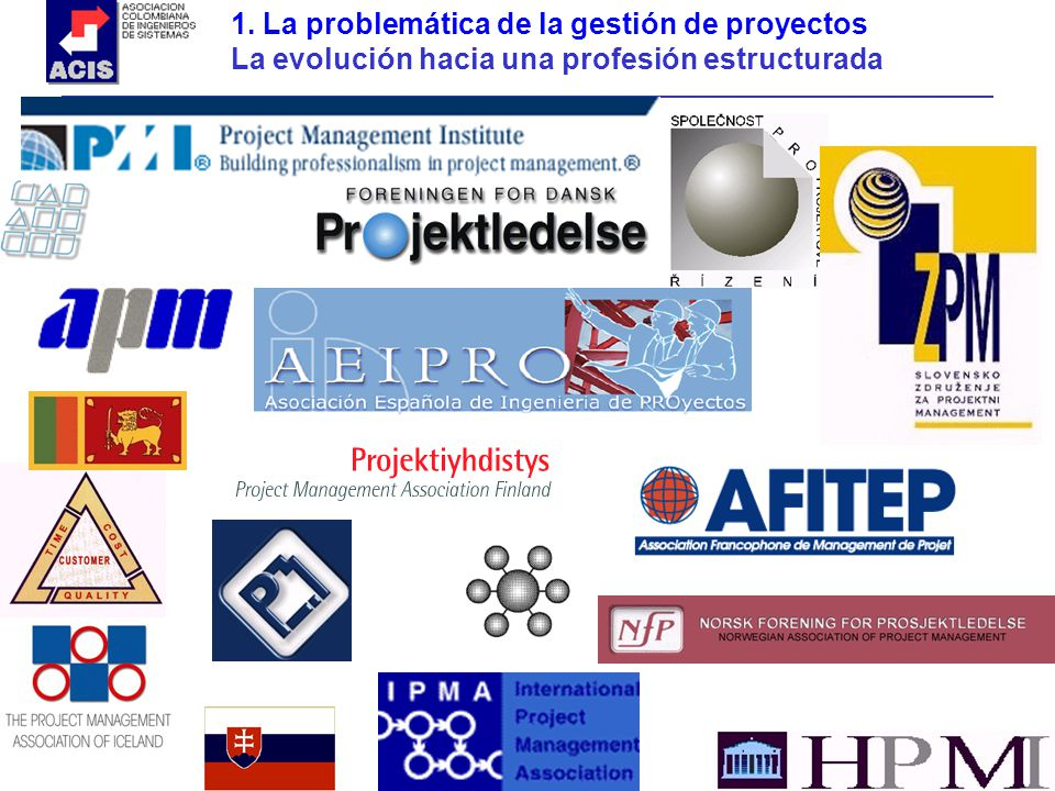 1. La problemática de la gestión de proyectos